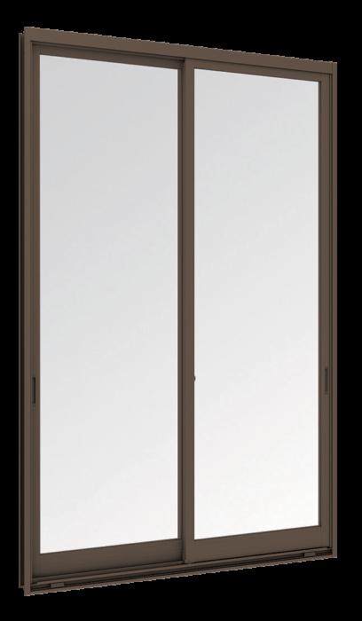 Sliding window (2 panels on 2 tracks)