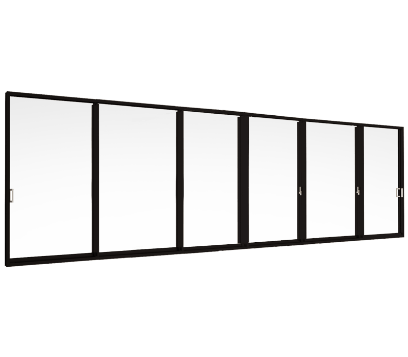 Sliding door (6 panels on 3 tracks)