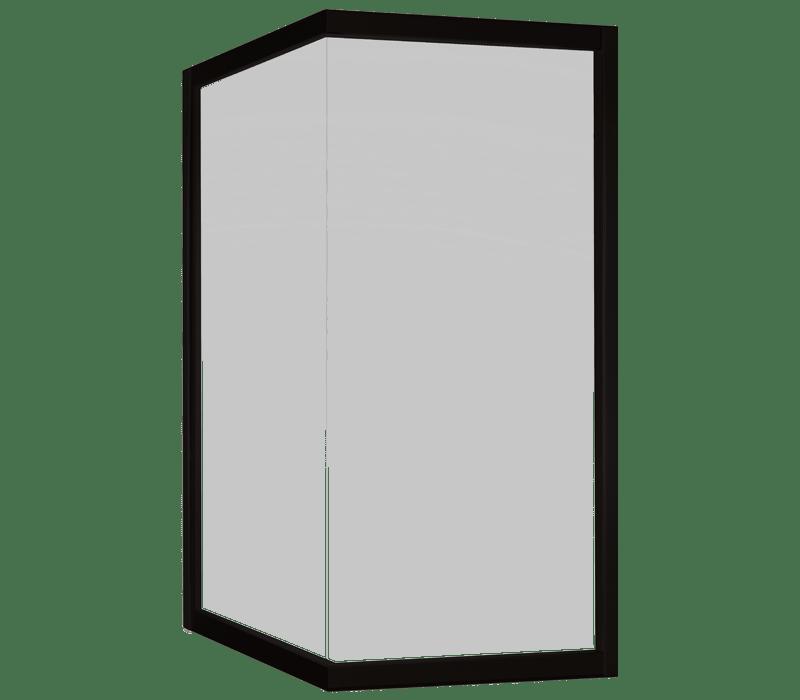 Corner fixed window