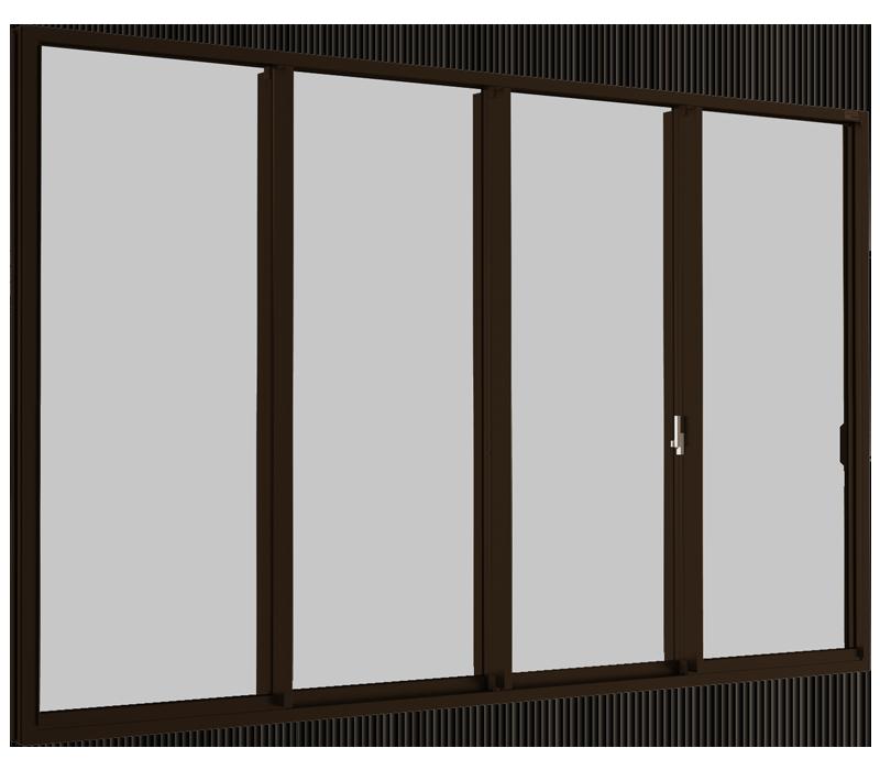 Sliding window (4 panels on 2 tracks)