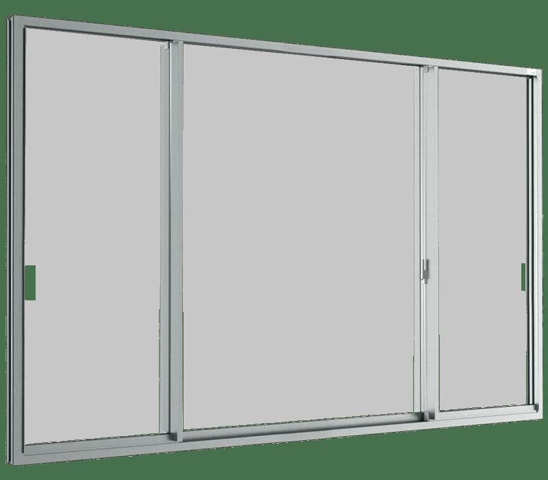 Aluminium Sliding window (3 panels on 2 tracks) SFS