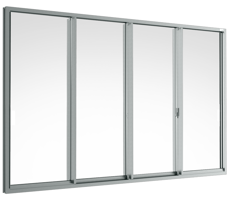 Aluminium Sliding window (4 panels on 2 tracks)