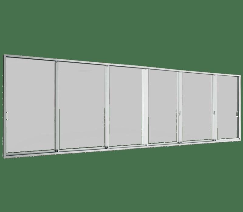 Aluminium Sliding door (6 panels on 3 tracks)
