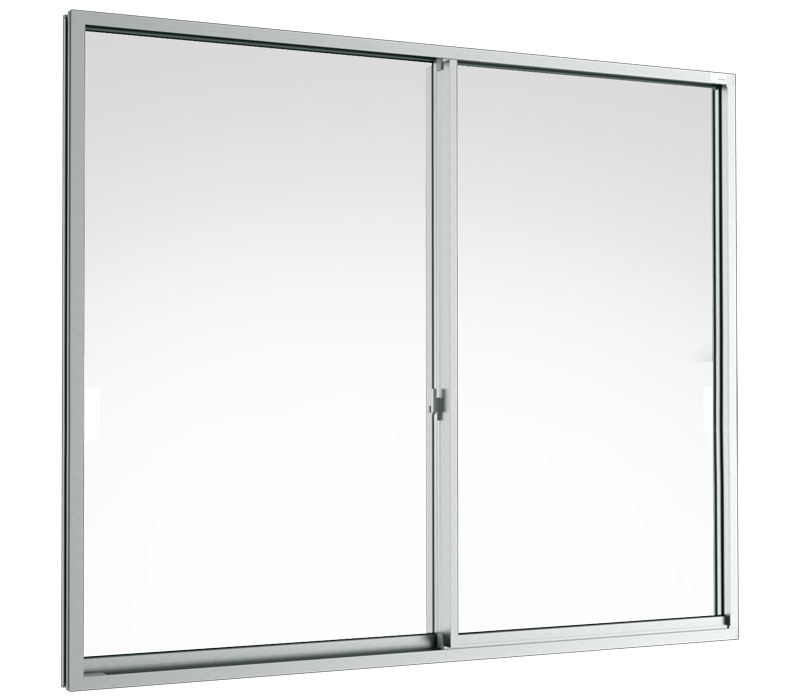 Aluminium Sliding window (2 panels on 2 tracks)