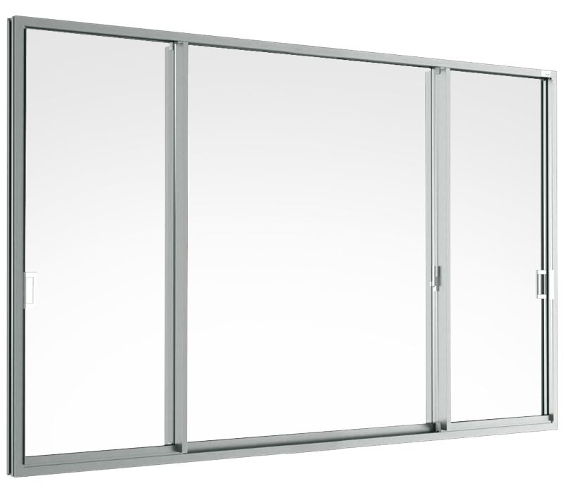 Aluminium Sliding door (3 panels on 3 tracks)