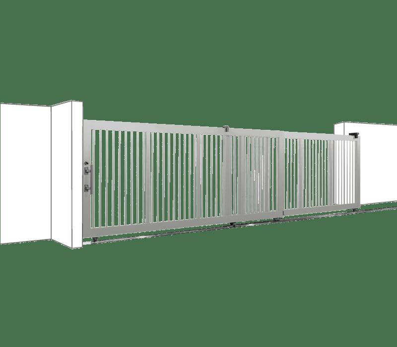 Double Aluminium Sliding Gate
