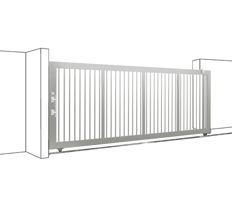 Aluminium Single Sliding Gate
