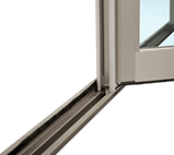 Aluminium Folding Doors - Watertight still with drainage system