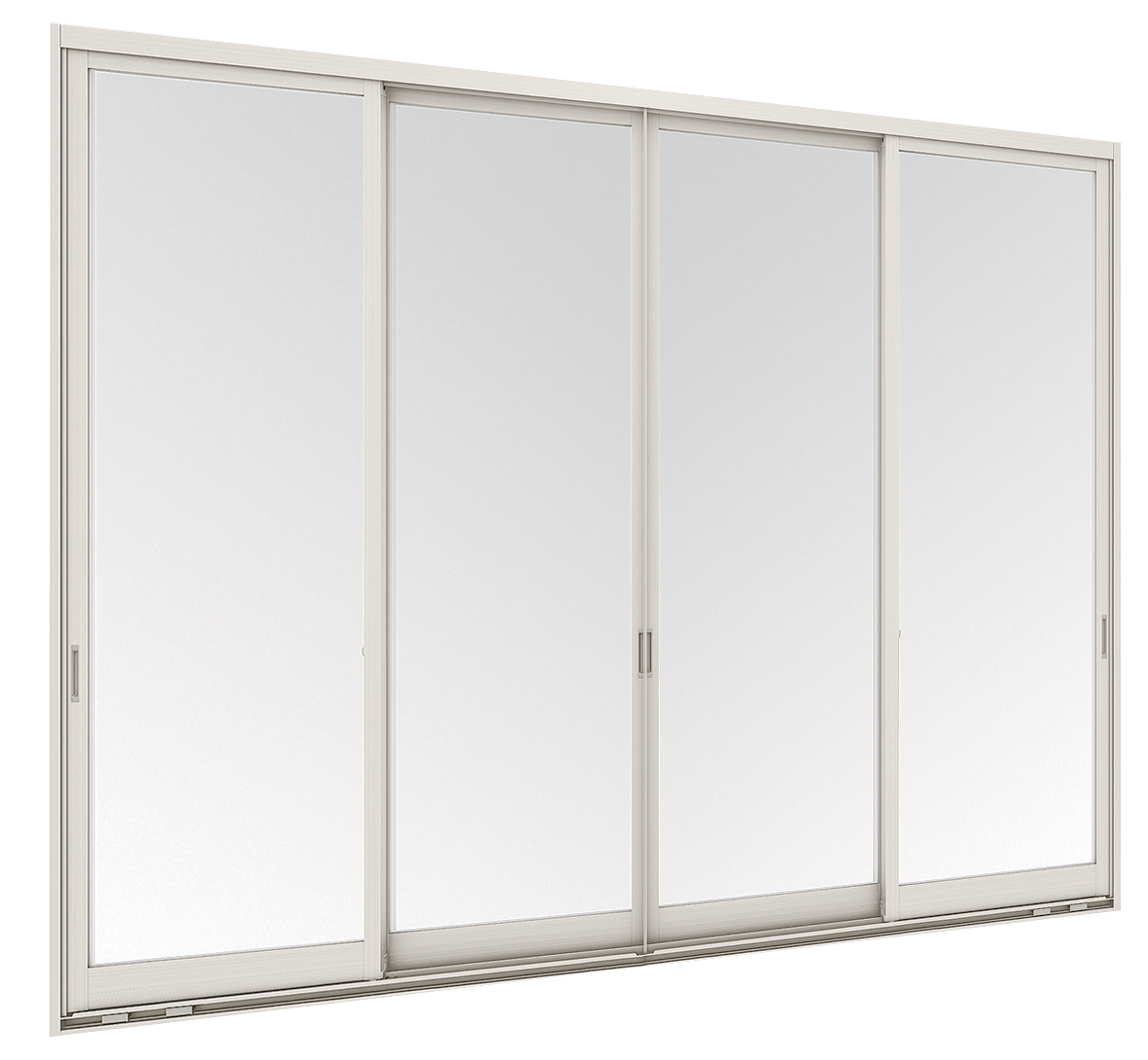Aluminium Sliding window - 4 panels on 2 tracks