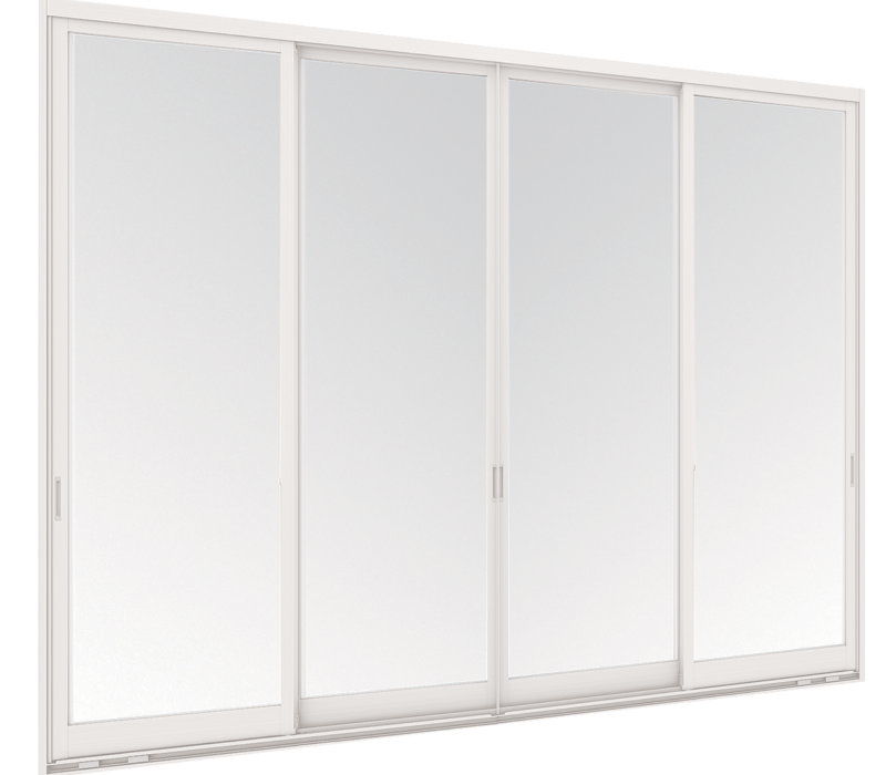 Aluminium Hanging door - 4 panels on 2 tracks - FSSF