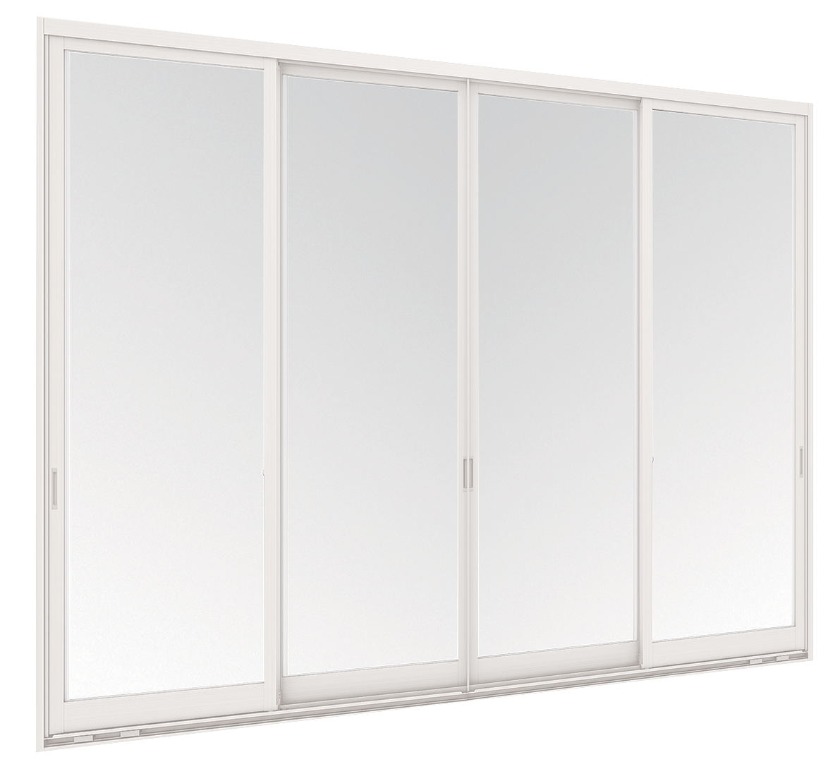 Aluminium Sliding door - 4 panels on 2 tracks
