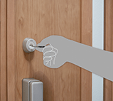 Aluminium Door - Reversible key