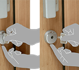 Aluminium Door - Removable thumb-turn
