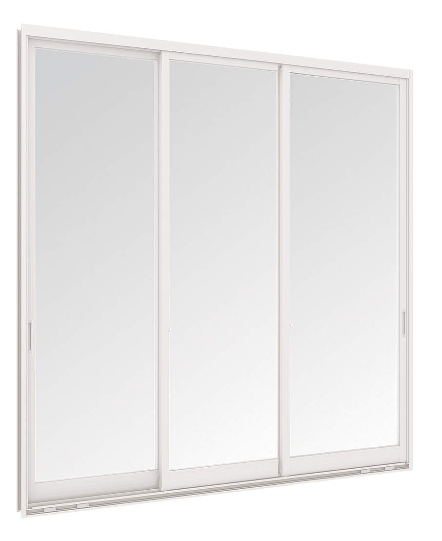 Aluminium Sliding door - 3 panels on 3 tracks