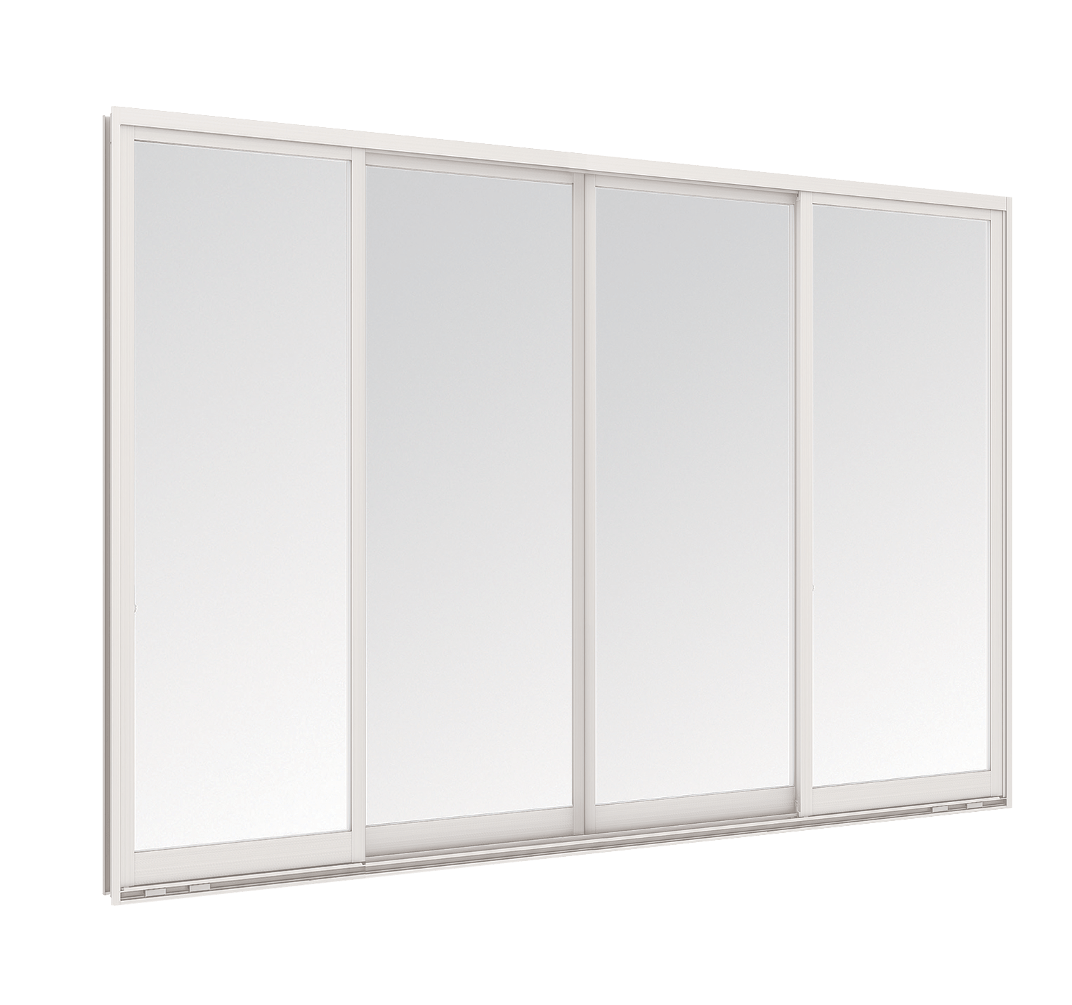 Aluminium Sliding window - 4 panels on 2 tracks