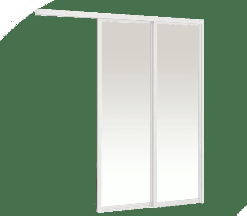 Aluminium In-wall Hanging door (2 panel on 2 track)