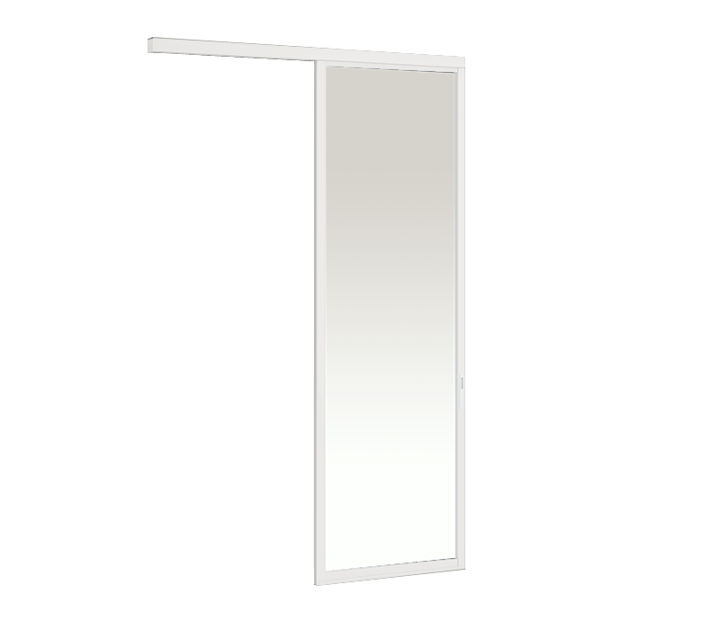 Aluminium On-wall Hanging door - 1 panel on 1 track