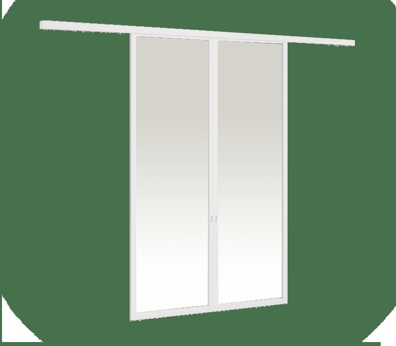 Aluminium On-wall Hanging door (2 panel on 1 track)