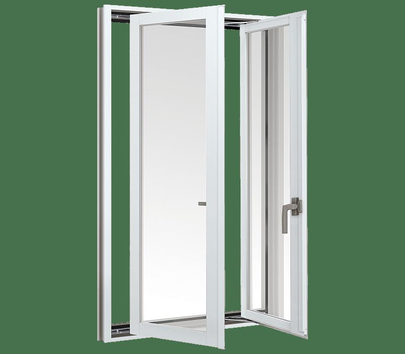 Aluminium Double casement window