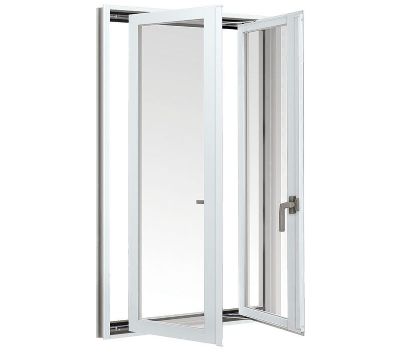 Aluminium Double casement window