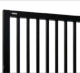 Double Aluminium Sliding Gate - Square pipe design