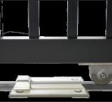 Double Aluminium Sliding Gate - Wheel stopper
